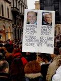 Mulheres italianas de encontro ao primeiro ministro Berlusconi Foto de Stock Royalty Free