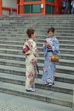 Mulheres japonesas nos quimonos Fotografia de Stock Royalty Free