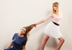 Mulheres loucas agressivas que lutam-se Imagem de Stock Royalty Free