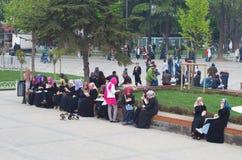 Mulheres muçulmanas em Istambul Fotografia de Stock