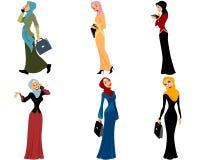 Mulheres muçulmanas modernas ilustração stock