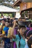 Mulheres na fila Imagem de Stock