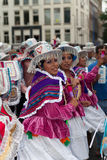 Mulheres na parada de carnaval 2012 do verão imagens de stock