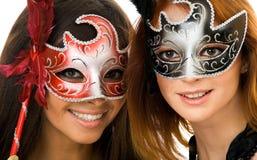 Mulheres nas máscaras Foto de Stock