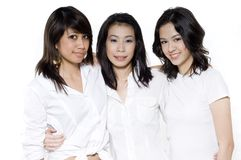 Mulheres no branco imagem de stock royalty free