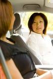Mulheres no carro Imagem de Stock