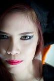 Mulheres no conceito o Dia das Bruxas Imagem de Stock Royalty Free