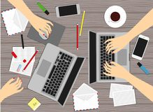 Mulheres no local de trabalho Ilustração do vetor Foto de Stock Royalty Free