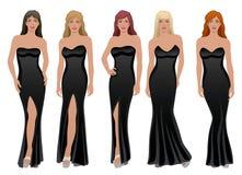 Mulheres no preto Imagem de Stock Royalty Free