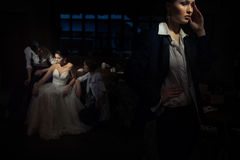 Mulheres no restaurante Fotos de Stock Royalty Free