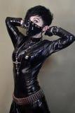 Mulheres no terno do gato imagem de stock royalty free
