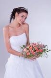 Mulheres no vestido de casamento Fotos de Stock Royalty Free