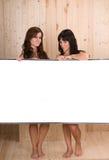 Mulheres nos termas com espaço da cópia Foto de Stock Royalty Free