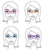 Mulheres nos vidros Imagem de Stock Royalty Free