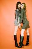 Mulheres novas amigáveis Foto de Stock Royalty Free