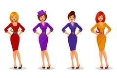 Mulheres novas elegantes Imagem de Stock