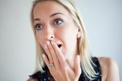 Mulheres novas emocionais Fotografia de Stock Royalty Free
