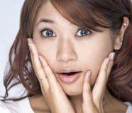 Mulheres novas - expressão Imagens de Stock Royalty Free