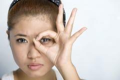 Mulheres novas - expressão Imagem de Stock
