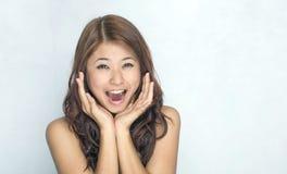 Mulheres novas - expressão Fotos de Stock
