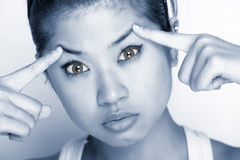 Mulheres novas - expressão Fotografia de Stock Royalty Free