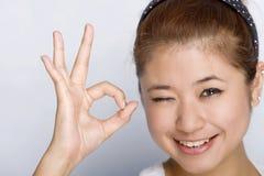 Mulheres novas - expressão feliz Imagem de Stock Royalty Free