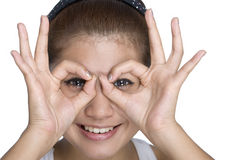 Mulheres novas - expressão feliz Imagens de Stock