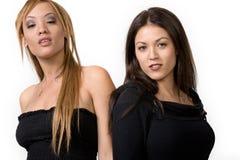 Mulheres novas na moda imagens de stock