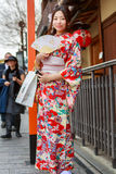 Mulheres novas no vestido do quimono Fotos de Stock Royalty Free