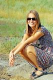 Mulheres novas nos óculos de sol Imagens de Stock Royalty Free