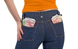 Mulheres novas ricas Imagens de Stock
