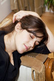 Mulheres novas Tired Fotografia de Stock Royalty Free