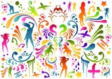Mulheres orgânicas ilustração royalty free
