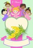 Mulheres pequenas ilustração royalty free