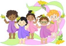 Mulheres pequenas ilustração stock