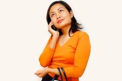 Mulheres que chamam - handphone Imagens de Stock Royalty Free