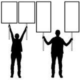 Mulheres que guardam sinais diferentes Foto de Stock