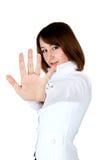 Mulheres que mostram o batente Imagem de Stock