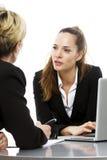Mulheres que têm uma reunião de negócio fotos de stock royalty free