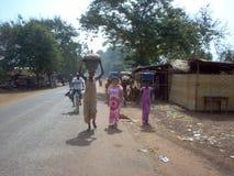 Mulheres que trabalham em Guiné-Bissau Fotografia de Stock