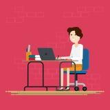 Mulheres que trabalham na sala Imagens de Stock Royalty Free