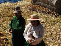 Mulheres Quechua, Puno, Peru foto de stock royalty free