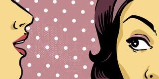 Mulheres retros ilustração do vetor