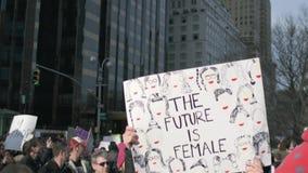Mulheres ` s março de 2018 em New York City