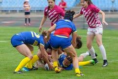 Mulheres Sevens de Europa do rugby imagem de stock