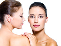 Mulheres 'sexy' bonitas do reboque Foto de Stock