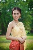 Mulheres tailandesas no traje da tradição de Tailândia Fotos de Stock