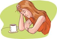 Mulheres Tired ilustração stock