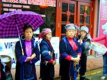 Mulheres tradicionais da vila de Sapa Vietname Fotografia de Stock Royalty Free