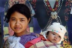 Mulheres tribais de Khasi em India do nordeste Foto de Stock